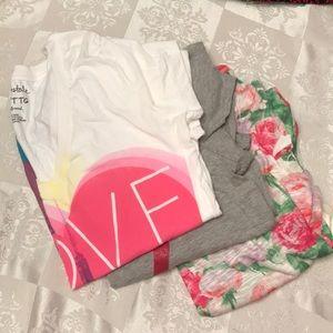 Lot of 3 Aero v-neck short sleeve T-shirts XXL